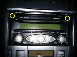 Scion tC stock radio