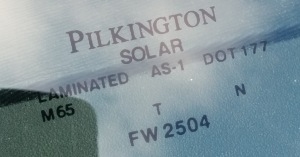 Pilkington replacement windshield
